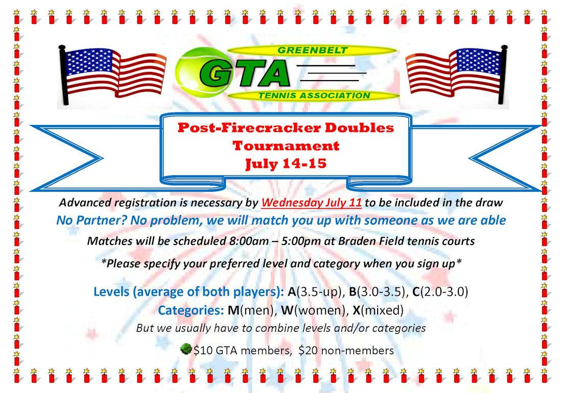 Greenbelt Tennis Association Tournament